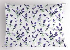 Minik Şık Çiçekler Yastık Kılıfı Çeyizlik Mor Şık