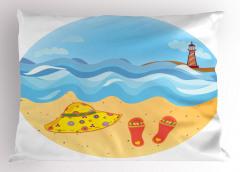 Deniz Feneri ve Kumsal Yastık Kılıfı Deniz Feneri Kumsal