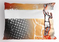 Basketbol Sevdası Yastık Kılıfı Karakalem Poster Etkili