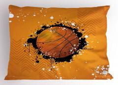 Basketbol Topu Desenli Yastık Kılıfı Basketbol Topu Desenli Spor