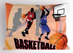 Basketbol Maçı Yastık Kılıfı Nostaljik Poster Etkili