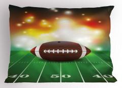 Amerikan Futbolu Temalı Yastık Kılıfı Yeşil Kahverengi