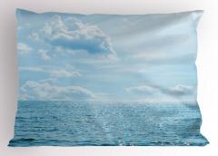 Deniz Bulut Manzaralı Yastık Kılıfı Mavi Gökyüzü