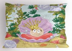 Prenses İnci ve Balık Yastık Kılıfı Prenses İnci ve Balıklar