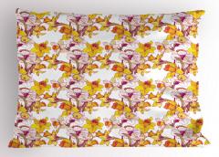 Bahar Coşkusu Yastık Kılıfı Sarı Nergis Çiçekli Tasarım