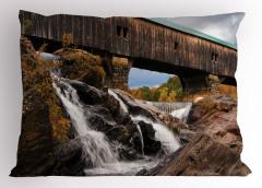 Çağlayan ve Köprü Yastık Kılıfı Eski Ahşap Köprü
