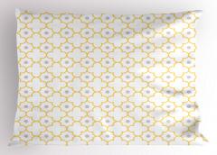 Sarı Yonca Desenli Yastık Kılıfı Şık Tasarım Sarı Yonca Desenli