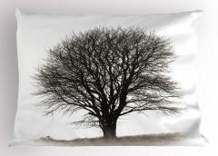 Nostaljik Ağaç Yastık Kılıfı Sonbahar Nostaljik Ağaç