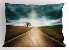 Yol Maceraları Uzun Yol Yastık Kılıfı Gri