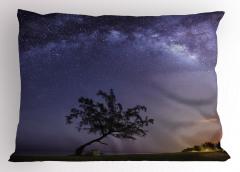 Yıldızlı Gece Yastık Kılıfı Gökyüzü Manzaralı