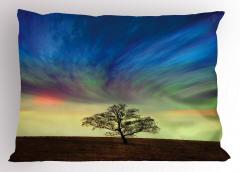 Yalnız Ağaç Yastık Kılıfı Sürreal Gökyüzü
