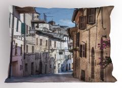 Nostaljik İtalya Sokağı Yastık Kılıfı Antik İtalyan Sokağı Temalı