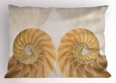 Şık Deniz Kabuğu Yastık Kılıfı Trend Krem Rengi
