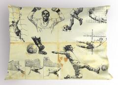 Kaleci Desenli Yastık Kılıfı Futbol Kaleci