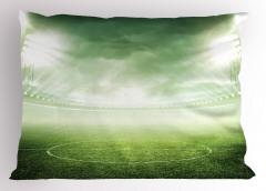 Futbol Sahası Yastık Kılıfı Yeşil Saha