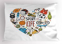 Spor Aşkı Yastık Kılıfı Futbol Basketbol Kupa