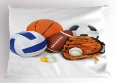Top Desenli Yastık Kılıfı Futbol Basketbol Top