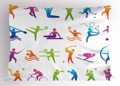 Spor Türleri Yastık Kılıfı Rengarenk Spor Türleri