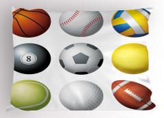 Top Çeşitleri Yastık Kılıfı Futbol Basketbol Top