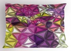 Rengarenk Geometrik Yastık Kılıfı Dekoratif