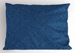 Puantiye Desenli Yastık Kılıfı Yıldız Puantiye Şık Tasarım