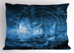 Gemi Radarı Desenli Yastık Kılıfı Gemi Radarı Desenli Siyah