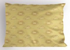 Bal Kabağı Desenli Yastık Kılıfı Çeyizlik Şık Tasarım Trend Retro