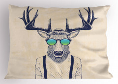 Hippi Geyik Desenli Yastık Kılıfı Modern Sanat Tasarım