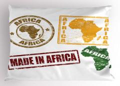 Afrika Temalı Yastık Kılıfı Harf Baskılı
