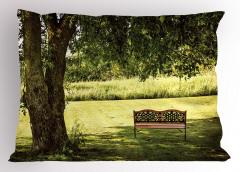 Ağaç Gölgesi Desenli Yastık Kılıfı Ağaç Gölgesi Yeşil