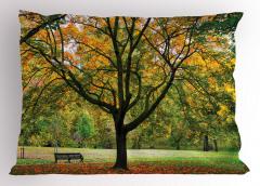 Romantik Sonbahar Yastık Kılıfı Turuncu Yaprak