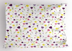 Rengarenk Laleler Yastık Kılıfı Rengarenk Lale Desenleri