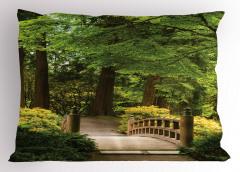 Doğada Yolculuk Yastık Kılıfı Ağaçlar Huzur