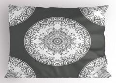Gri Beyaz Motifli Yastık Kılıfı Hayvan Dekoratif