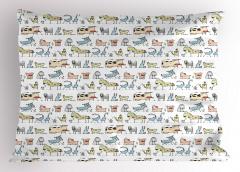 Çiftlik Hayvanları Desenli Yastık Kılıfı