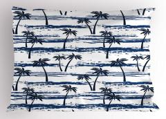 Palmiye Ağaçları Desenli Yastık Kılıfı Palmiye Ağaçları