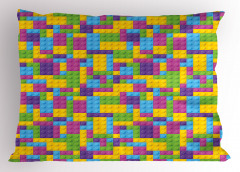 Lego Desenli Yastık Kılıfı Rengarenk Legolar Oyun