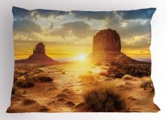 ABD Çölleri Yastık Kılıfı Güneş Gökyüzü Bulut