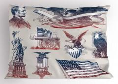 Amerika Nostaljisi Yastık Kılıfı Şık Tasarım