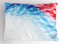 Yıldızlı ABD Bayrağı Yastık Kılıfı Mavi Kırmızı