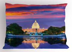 Beyaz Saray'ın Bahçesi Yastık Kılıfı Turuncu Bulut
