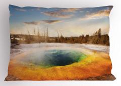 Volkanik Gölet Yastık Kılıfı Büyüleyici Doğa