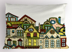 Taş Ev Desenli Yastık Kılıfı Taş Evler
