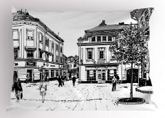 Tarihi Şehir Yastık Kılıfı Avrupai