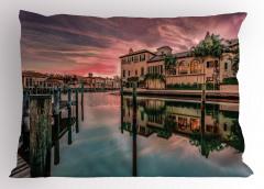 Venedik Kanalında Gün Doğumu Yastık Kılıfı