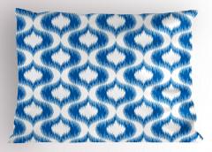 Modern Şık Desenli Yastık Kılıfı Mavi Beyaz Modern Desenler Şık Tasarım