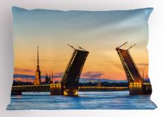 Saray Köprüsü Manzarası Yastık Kılıfı Denizde Gün Batımı