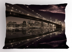 Büyüleyici New York Silüeti Yastık Kılıfı Amerika