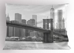 Nostaljik New York Yastık Kılıfı Nostaljik New York Manzarası ABD