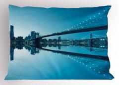 Masmavi New York Yastık Kılıfı Masmavi Deniz Gökyüzü